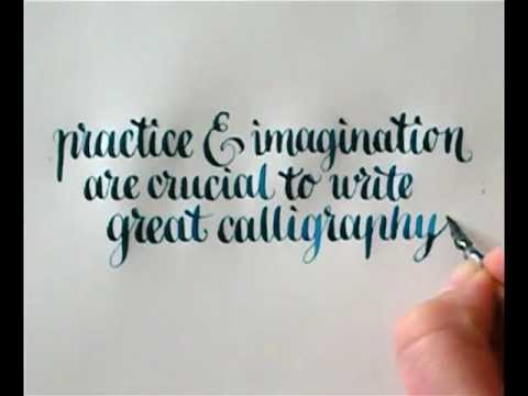 Calligraphy practice imagination by hejheidi youtube Calligraphy youtube