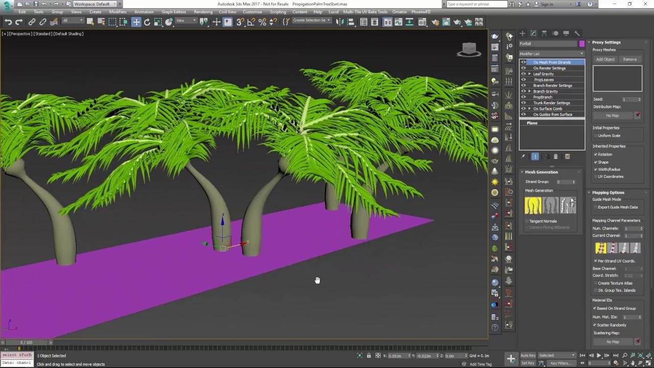 Ornatrix 3dsmax: Creating Trees and Foliage using Ornatrix (Part 1) by  Ephere