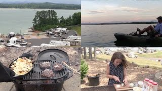 Camping at Douglas Lake, Lamb Burgers, Cheesy Potatoes and Dutch Oven Nachos (Episode #364)