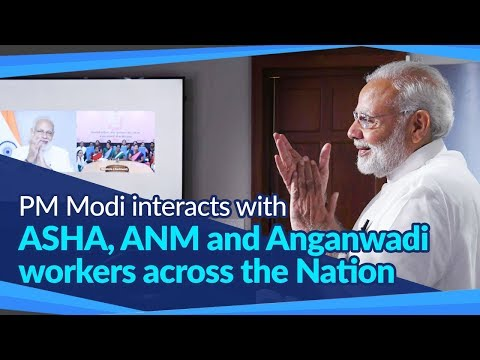 PM Modi interacts with ASHA, ANM and Anganwadi workers across the Nation   PMO