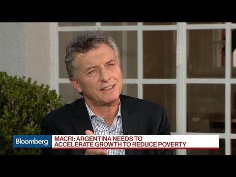 Argentina's Macri Says Lower Inflation Will Spur Growth