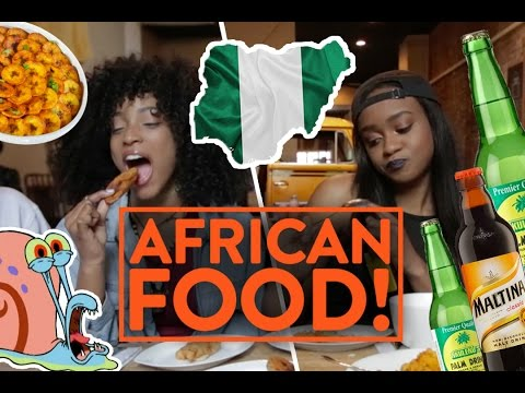 NIGERIAN FOOD! (Pounded Yam, Jollof Rice, Pepper Fish) - Fung Bros Food