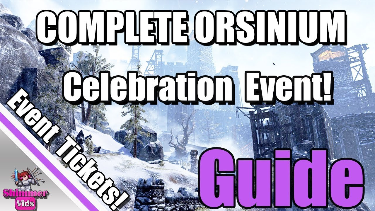 ESO: Orsinium Celebration Event Guide! All You Need To Know!!