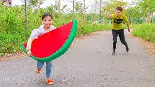 Kids Competition Reward Fruits Giant Watermelon! Kids johny johny yes papa Song Children