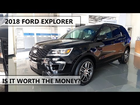 """2018 ford explorer 3.5L Ecoboost 4WD """"facelifted"""" video review/vehicle tour"""