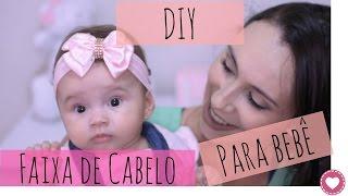 DIY - Como fazer faixa de cabelo para bebê de forma SIMPLES e FÁCIL thumbnail