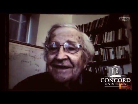 """Noam Chomsky on Poverty & Inequality in America"" - Concord University 2-23-2016"