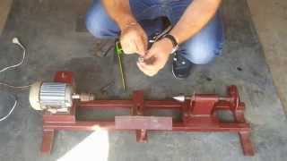 токарный станок своими руками/DIY woodturning lathe