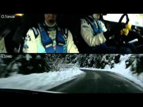 Ott Tanak vs Sebastien Loeb - WRC 2015 Monte Carlo SS14