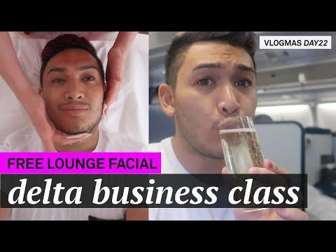 Air France Business Class Lounge &  Delta One Business Class: Paris to Seattle - VLOGMAS 2017 DAY 22