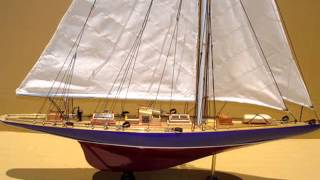 ENDEAVOUR - WOODEN SHIP MODEL - SAIL BOAT MODEL - DECORATIVE SAILING BOAT