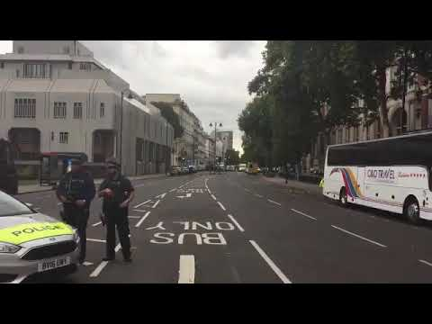 Scene outside London Natural History Museum after car attack