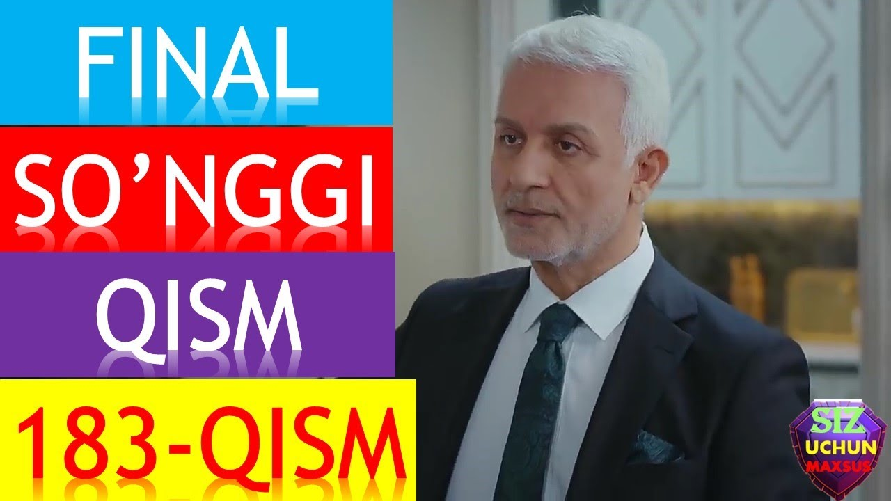 QORA NIYAT FINAL 183 QISM O'ZBEK TILIDA TURK FILMI 183 QISM