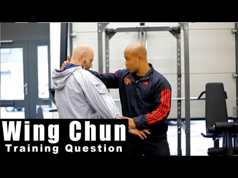 Wing Chun training - wing chun how to blend energy drills.Q22