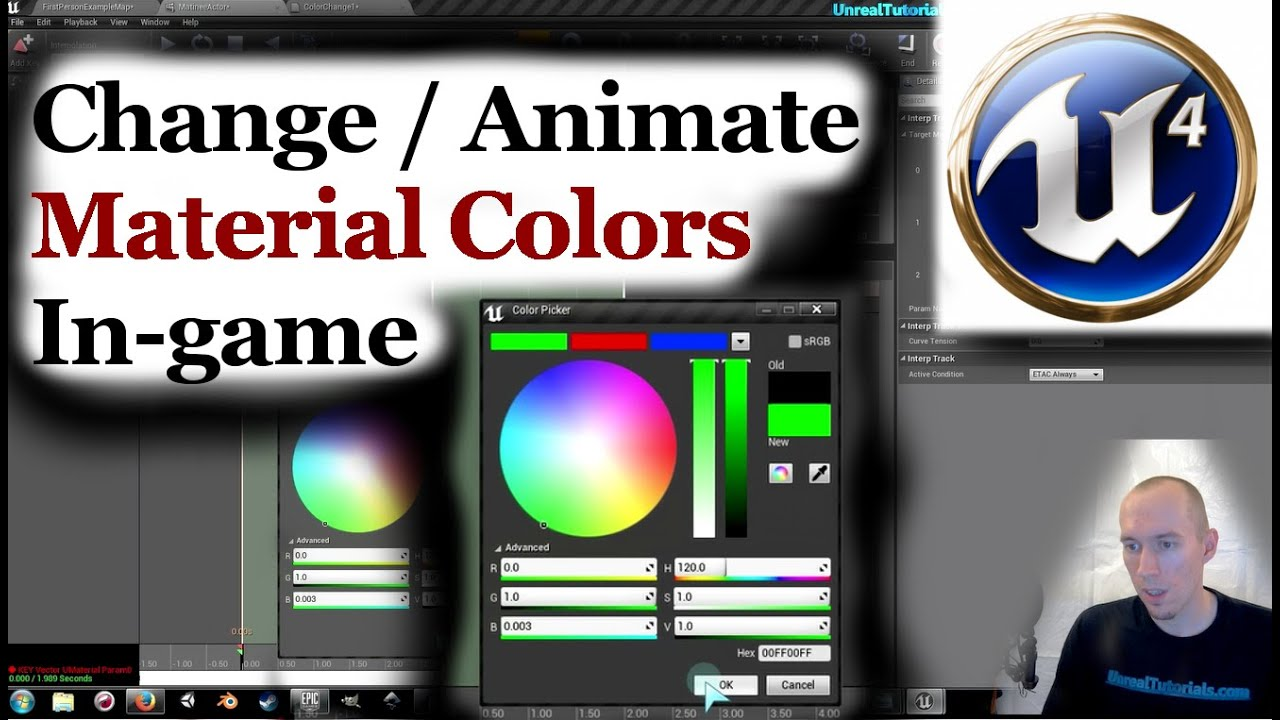 UE4 Tutorial | Change / Animate Material Colors In-game