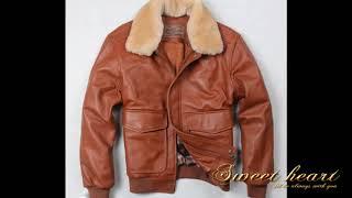 men black brown sheepskin coat winter bomber jacket