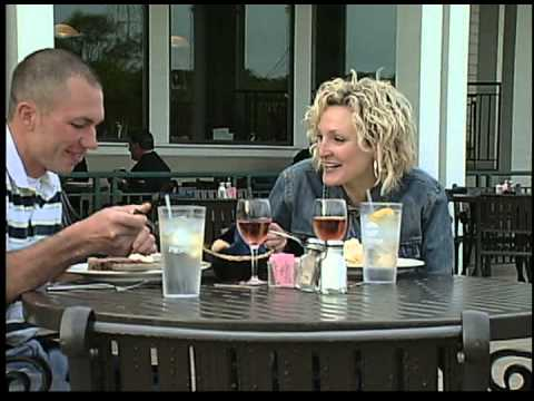Outside Couple Dining At Catfish Charlie's - Dubuque Iowa
