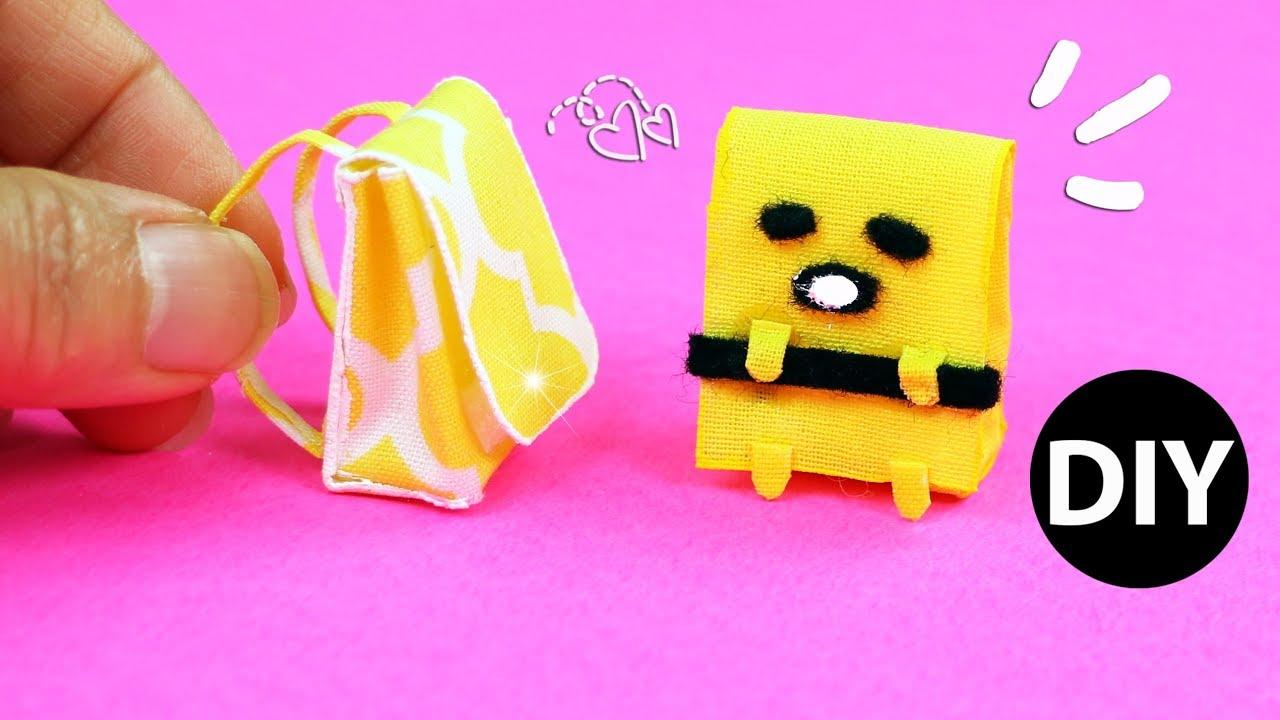 a8a037364b0b DIY Miniature Backpack  Gudetama School Bag for Doll Dollhouse Back to  School by Creative World