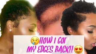 What NOT to do when GROWING EDGES BACK + HOW TO GROW YOUR EDGES BACK