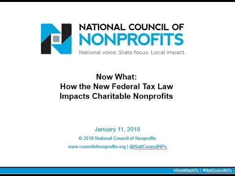 Now What: How the New Federal Tax Law Impacts Charitable Nonprofits