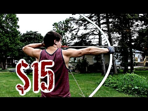Easy, Cheap, POWERFUL Bow (NO Power Tools or Heat Needed)