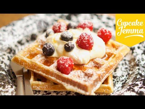 How to make Fluffy Yeast-Raised Waffles | Cupcake Jemma