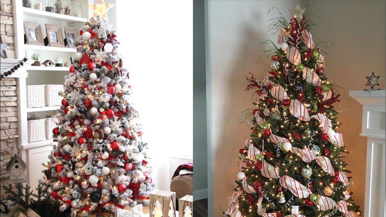 Como decorar el rbol de navidad rojo y blanco ideas para - Decorar arbol de navidad blanco ...