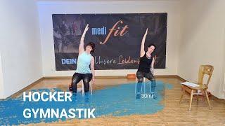 Hocker Gymnastik - Übungen auf einem Stuhl - 30min