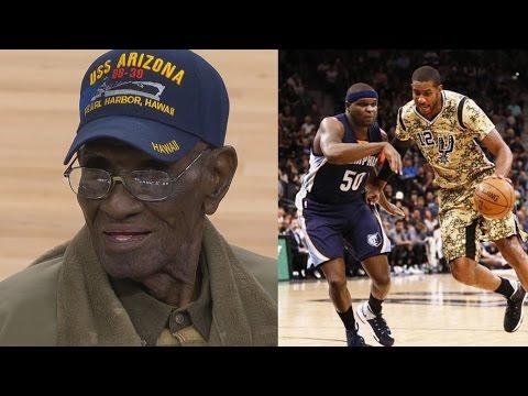 Spurs Honor Richard Overton 110 Years Oldest Living WWII Vet!