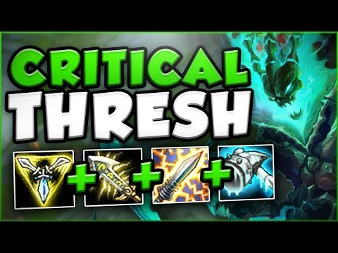 NO ONE EXPECTS THIS BURST! BIG CRIT THRESH TOP SEASON 8 GAMEPLAY! - League of Legends
