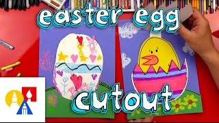 Easter Egg and Chick Cutout