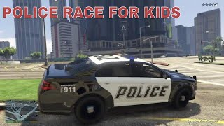 BEST 🚔 RACE FOR KIDS WITH POLICE / MOVIE FOR CHILD / child / FOR CHILDREN /  car child /