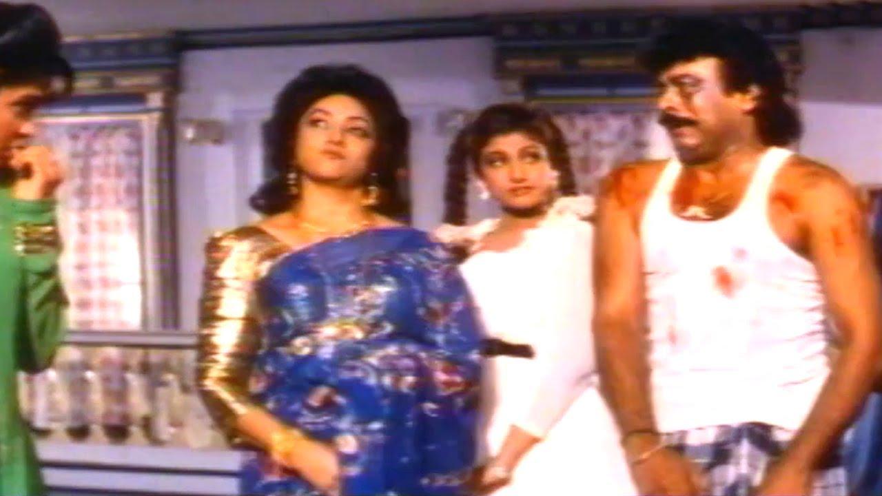 Alluda Majaka Comedy Scene - Tayota And Sitaramudu Comdey With Vasundara Family - Chiranjeevi