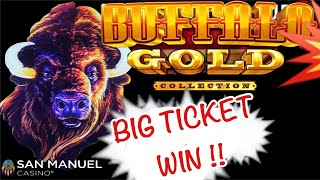 BUFFALO GOLD - 💥 BIG TICKET WIN!!  - CHASING THAT MONSTER HANDPAY