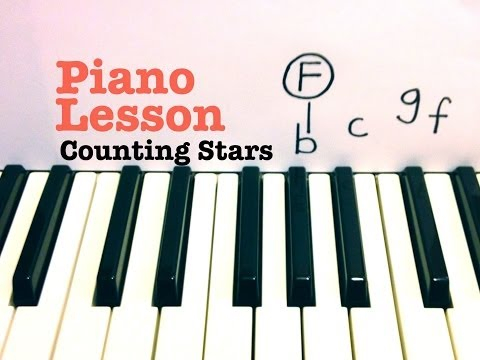 Counting Stars ★ Piano Lesson (EASY) ★ OneRepublic★(Todd Downing)