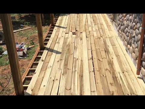 Making wood deck DIY, 데크 만들기