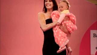 Green Nippers Honeysuckle Organic Baby Grow on the catwalk at The Baby Show Birmingham NEC 2011