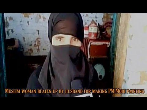 Muslim woman makes painting of Narendra Modi, Yogi Adityanath; beaten up by husband: Newspoint Tv