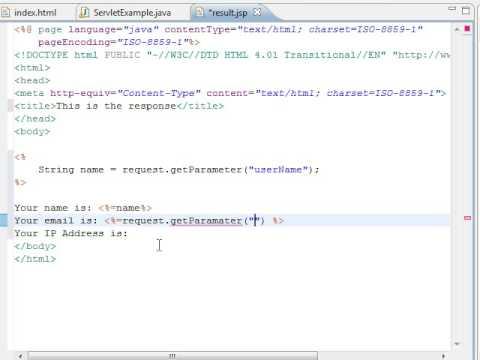 web applications with java tutorial 03 jsp basic html form