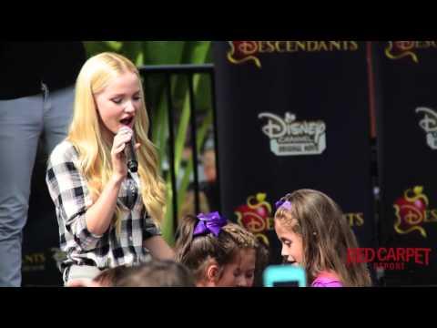 "Dove Cameron Singing her song ""IF Only"" LIVE at Downtown Disney #DescendantsFanEvent #Descendants"