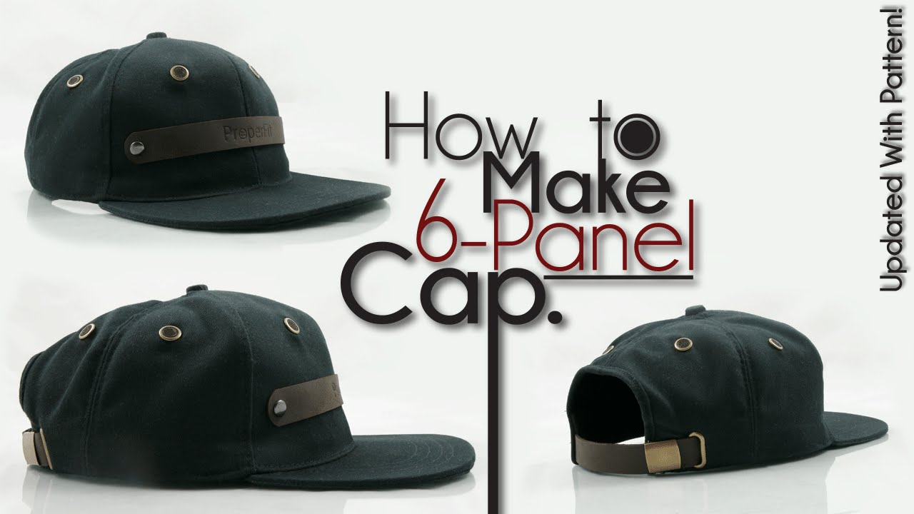 839c81f96df6ed How To Make Snapback Baseball Hat - YouTube