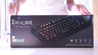 мех. клавиатура TESORO Excalibur Spectrum (Kailh Blue) Black