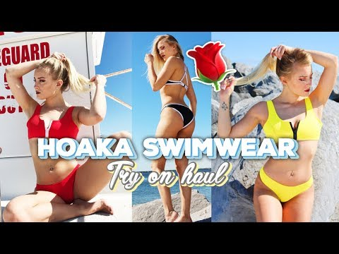 8756c3d9c2 HOAKA SWIMWEAR. TRY ON HAUL - YouTube