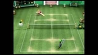 Mario Power Tennis GameCube Gameplay - Wario vs. Luigi