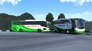 Euro Truck Simulator 2 - JetBus HD Ver.3 P.O Maju Lancar + Map I.Z.I Vol-1 Standalone Map Indonesia