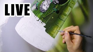 Painting Live - Green Bottle - 12th