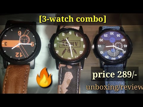 Glamexy New Letest Model To Tpo Combo Pack Of 3 Men Watch | Under 289 | Unboxing/review |paytm Loot