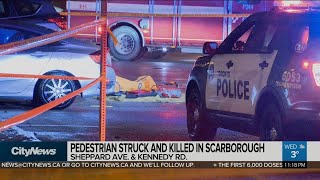 Police are investigating after a man was struck and killed by vehicle near kennedy road shepperd avenue east wednesday.