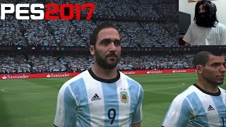 Argentina vs Chile || PES 17 || ME ROBARON || BARBAKAHN