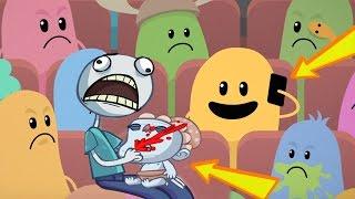 Dumb Ways To Die Vs Troll Face Quest Video Memes Funny Die In Movie Theater